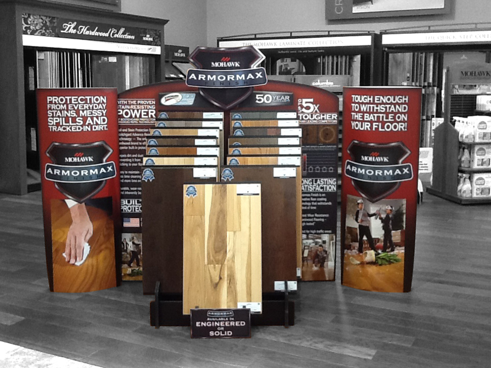 15 Slot Hardwood Display