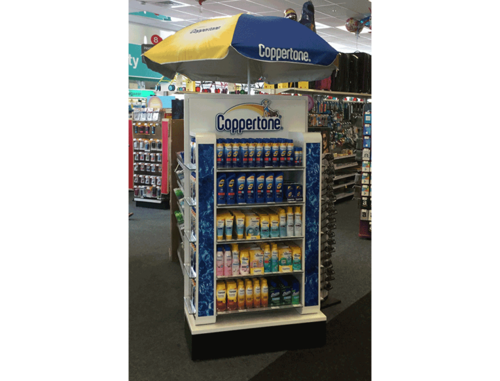 Coppertone End Display